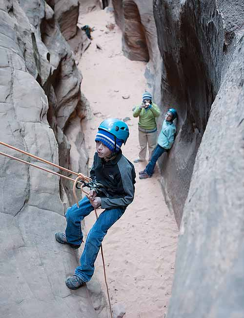 Family Canyoneering Trip in the Zion National Park area.