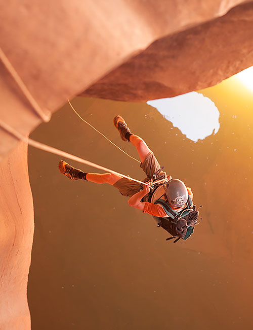 Neon Canyon Cathedral Rappel